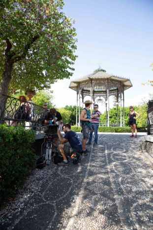 Shooting at Villa Bellini, Catania.